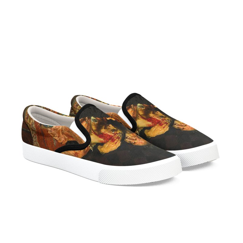Vivid Retro - Ivan the Terrible and His Son Ivan Men's Slip-On Shoes by lostsigil's Artist Shop