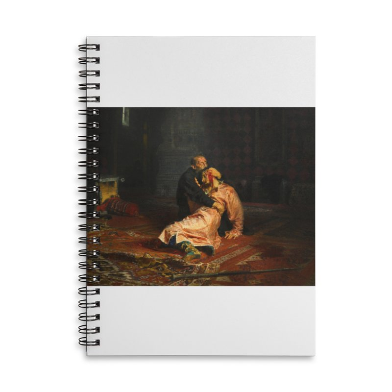 Vivid Retro - Ivan the Terrible and His Son Ivan Accessories Lined Spiral Notebook by lostsigil's Artist Shop