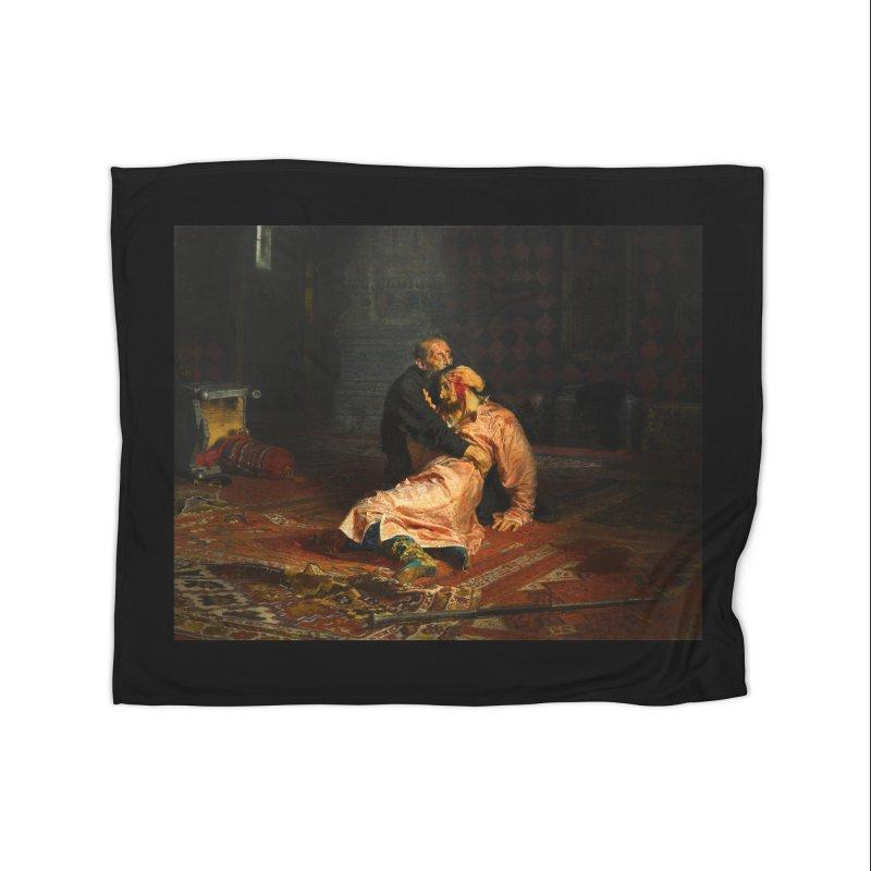 Vivid Retro - Ivan the Terrible and His Son Ivan Home Fleece Blanket Blanket by lostsigil's Artist Shop