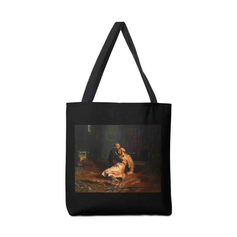 Vivid Retro - Ivan the Terrible and His Son Ivan Accessories Tote Bag Bag by lostsigil's Artist Shop