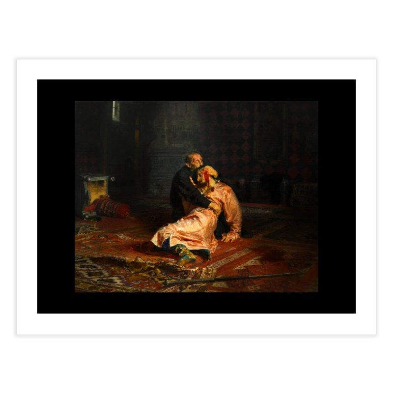 Vivid Retro - Ivan the Terrible and His Son Ivan Home Fine Art Print by lostsigil's Artist Shop