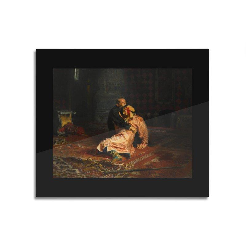 Vivid Retro - Ivan the Terrible and His Son Ivan Home Mounted Aluminum Print by lostsigil's Artist Shop