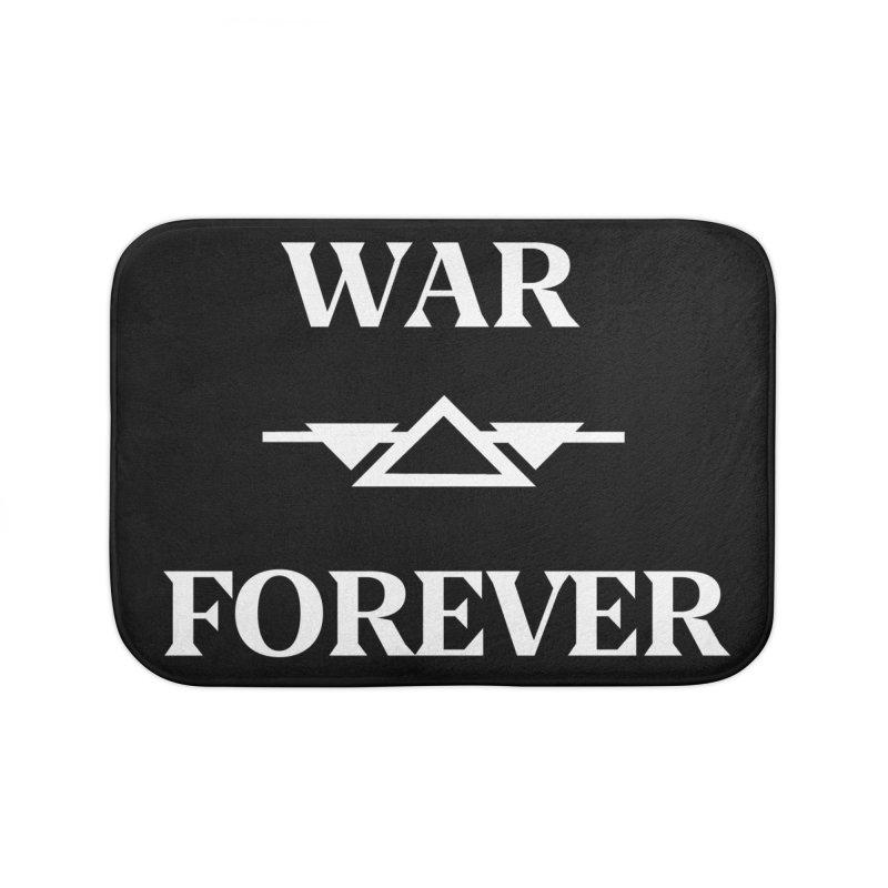 War Forever Black Home Bath Mat by lostsigil's Artist Shop