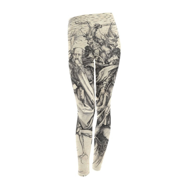 Vivid Retro - St. Anthony Women's Leggings Bottoms by lostsigil's Artist Shop