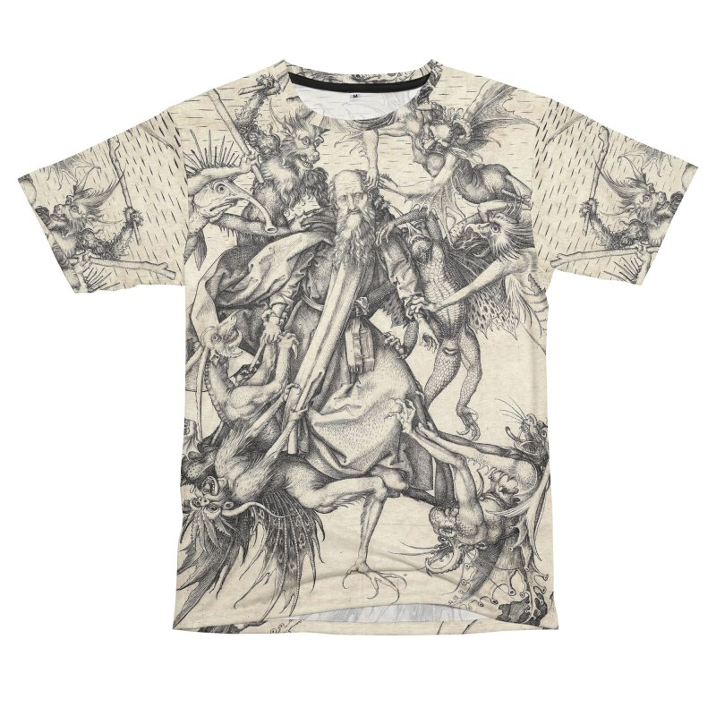 Vivid Retro - St. Anthony Men's French Terry T-Shirt Cut & Sew by lostsigil's Artist Shop