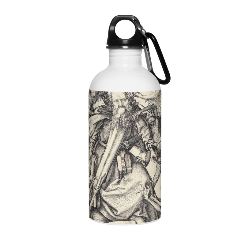 Vivid Retro - St. Anthony Accessories Water Bottle by lostsigil's Artist Shop