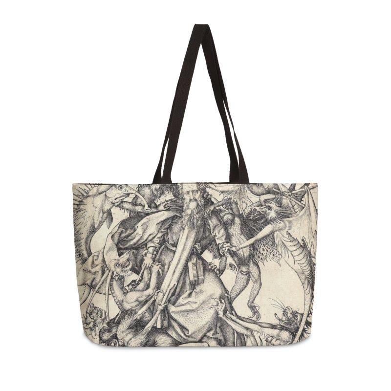 Vivid Retro - St. Anthony Accessories Weekender Bag Bag by lostsigil's Artist Shop