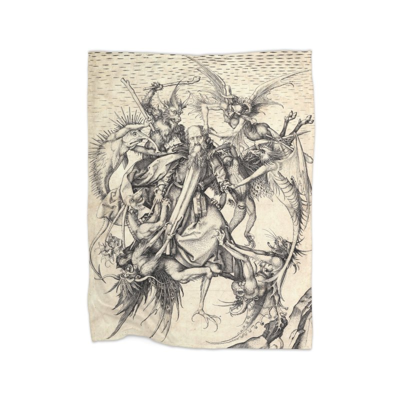 Vivid Retro - St. Anthony Home Fleece Blanket Blanket by lostsigil's Artist Shop