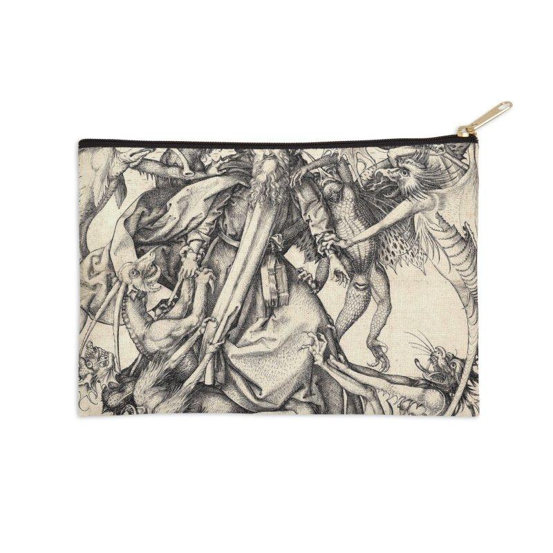 Vivid Retro - St. Anthony Accessories Zip Pouch by lostsigil's Artist Shop