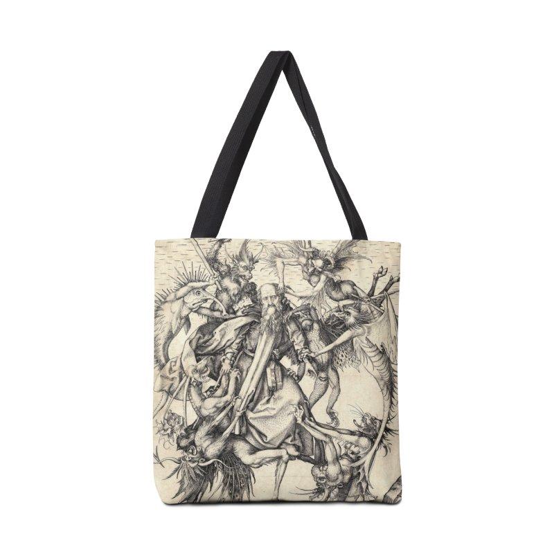 Vivid Retro - St. Anthony Accessories Tote Bag Bag by lostsigil's Artist Shop