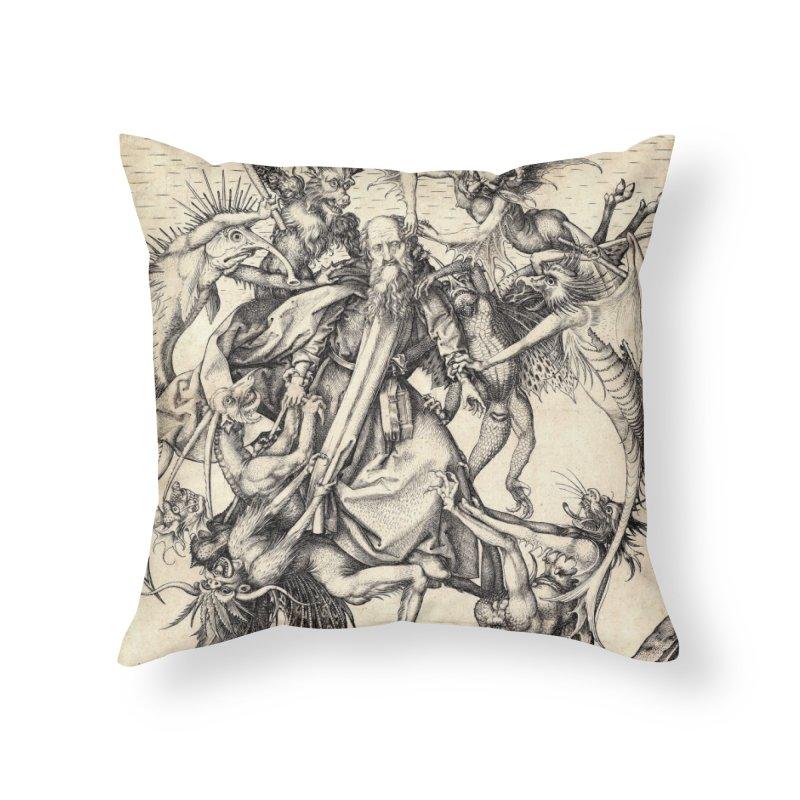 Vivid Retro - St. Anthony Home Throw Pillow by lostsigil's Artist Shop