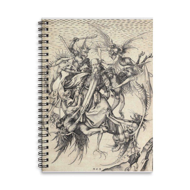 Vivid Retro - St. Anthony Accessories Lined Spiral Notebook by lostsigil's Artist Shop