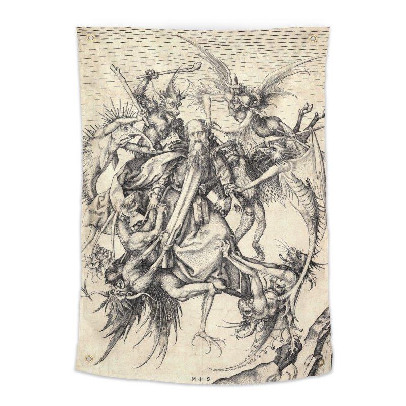 Vivid Retro - St. Anthony Home Tapestry by lostsigil's Artist Shop