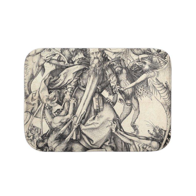 Vivid Retro - St. Anthony Home Bath Mat by lostsigil's Artist Shop