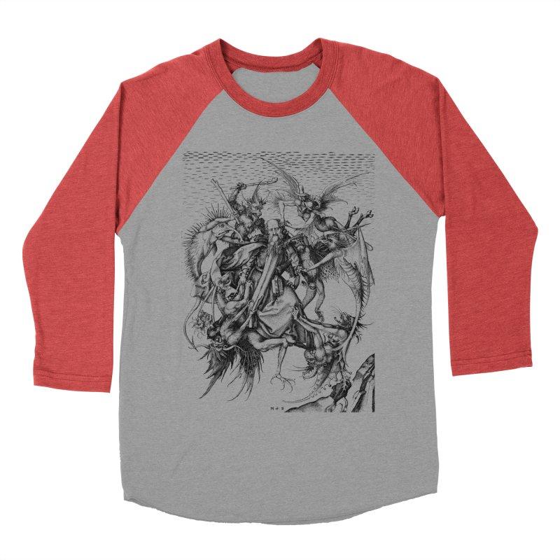 Vivid Retro - St. Anthony Men's Baseball Triblend Longsleeve T-Shirt by lostsigil's Artist Shop