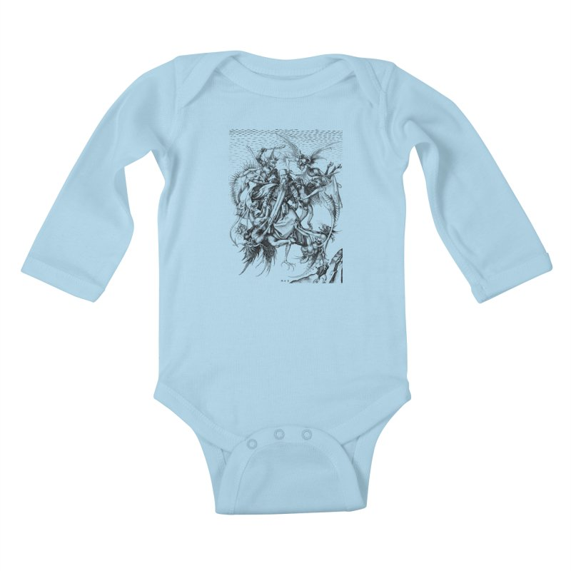 Vivid Retro - St. Anthony Kids Baby Longsleeve Bodysuit by lostsigil's Artist Shop