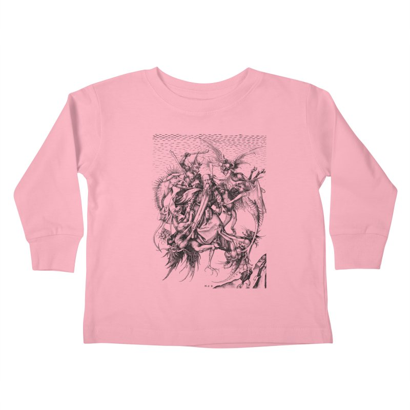 Vivid Retro - St. Anthony Kids Toddler Longsleeve T-Shirt by lostsigil's Artist Shop