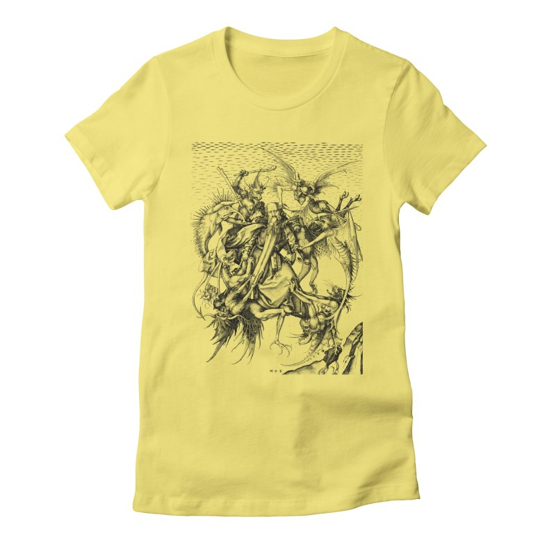 Vivid Retro - St. Anthony Women's Fitted T-Shirt by lostsigil's Artist Shop