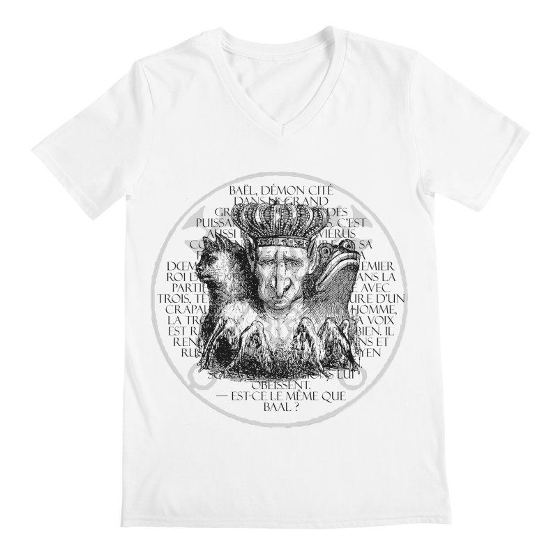 Hierarchia Inferni - Bael Men's Regular V-Neck by lostsigil's Artist Shop