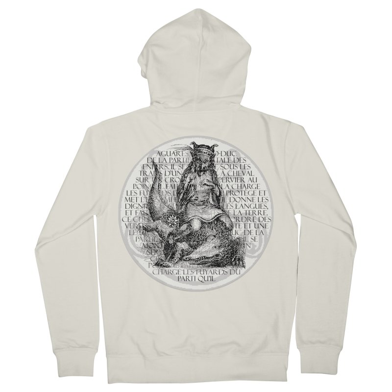 Hierarchia Inferni - Aguares Women's French Terry Zip-Up Hoody by lostsigil's Artist Shop