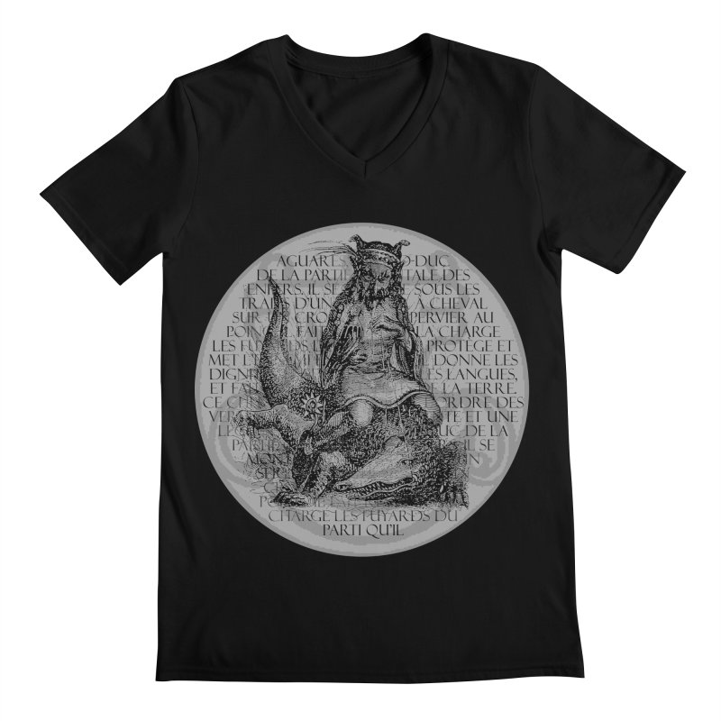 Hierarchia Inferni - Aguares Men's Regular V-Neck by lostsigil's Artist Shop