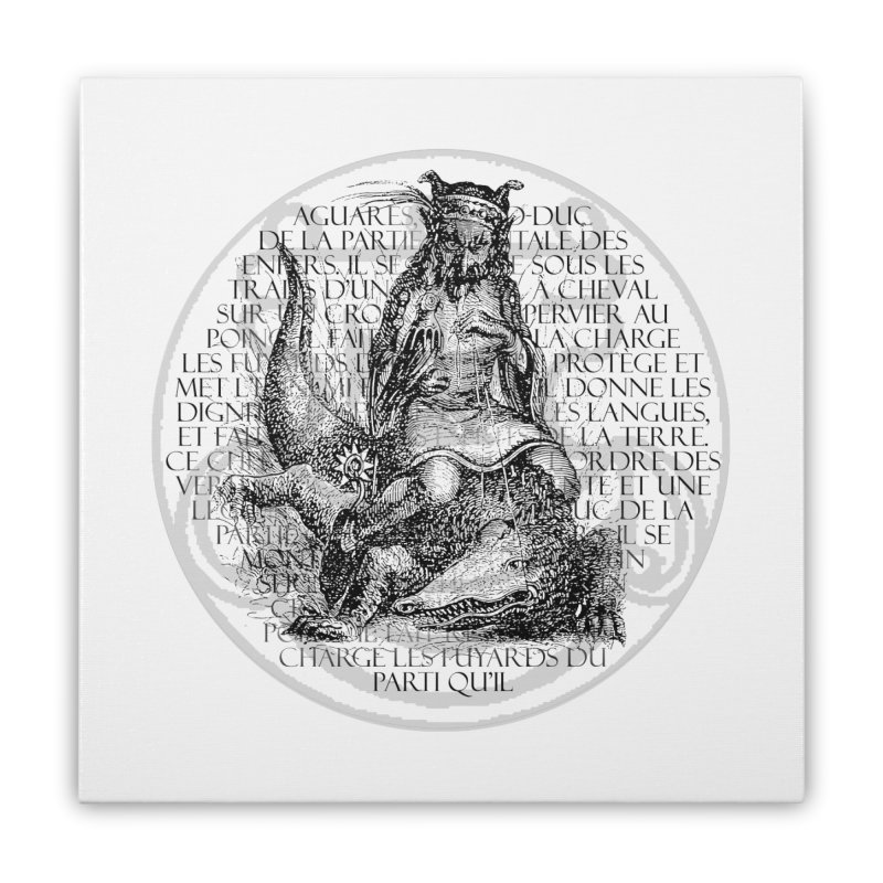 Hierarchia Inferni - Aguares Home Stretched Canvas by lostsigil's Artist Shop