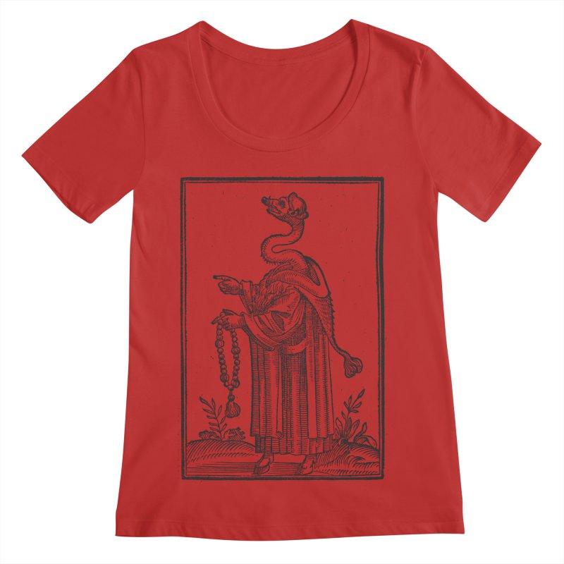 Hermetica Moderna - The Weasel Monk Women's Regular Scoop Neck by lostsigil's Artist Shop