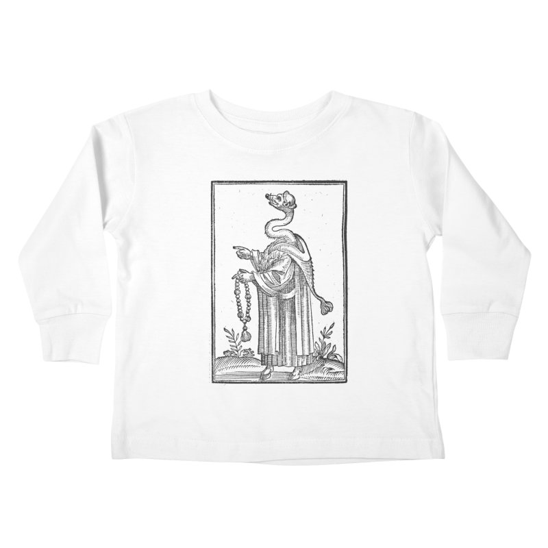 Hermetica Moderna - The Weasel Monk Kids Toddler Longsleeve T-Shirt by lostsigil's Artist Shop