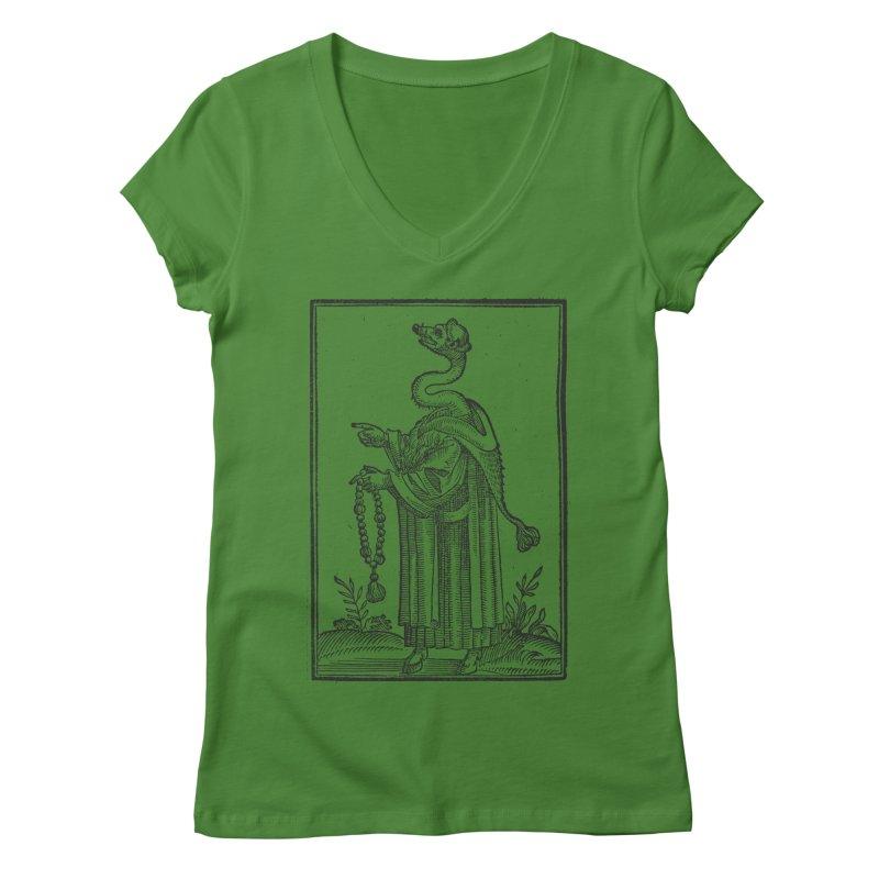 Hermetica Moderna - The Weasel Monk Women's Regular V-Neck by lostsigil's Artist Shop