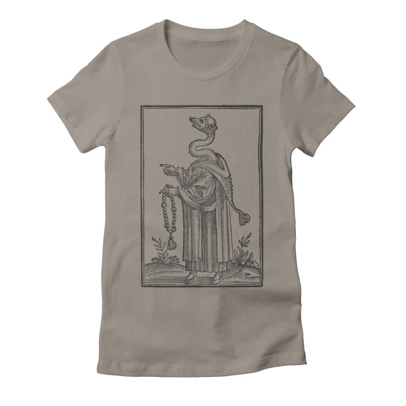 Hermetica Moderna - The Weasel Monk Women's Fitted T-Shirt by lostsigil's Artist Shop