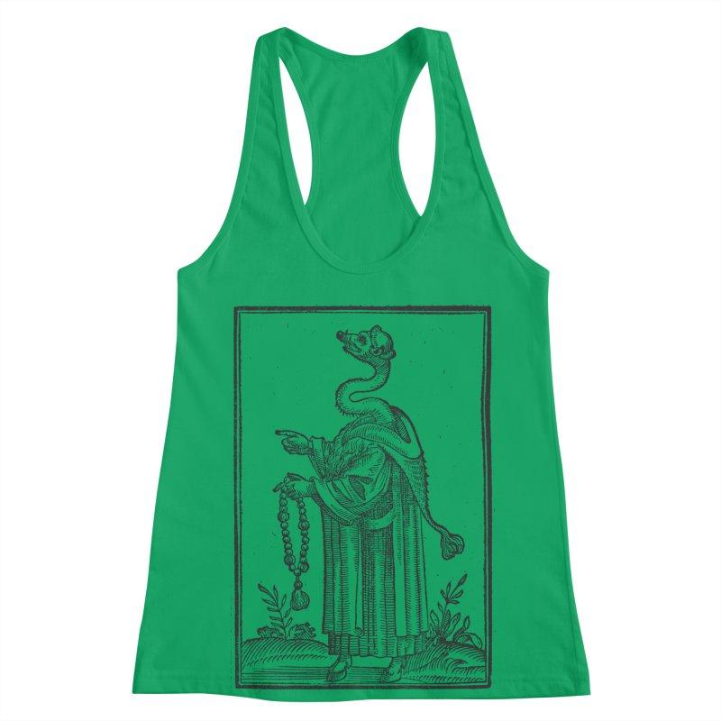 Hermetica Moderna - The Weasel Monk Women's Racerback Tank by lostsigil's Artist Shop