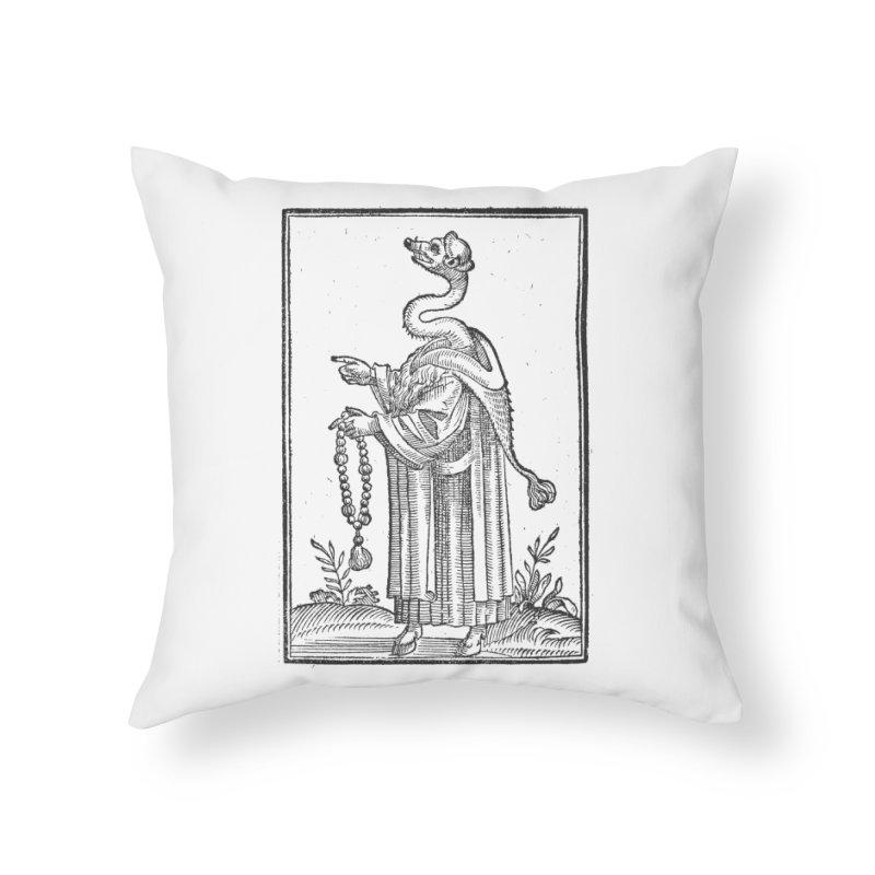 Hermetica Moderna - The Weasel Monk Home Throw Pillow by lostsigil's Artist Shop