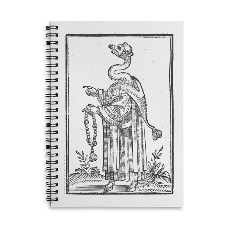 Hermetica Moderna - The Weasel Monk Accessories Lined Spiral Notebook by lostsigil's Artist Shop