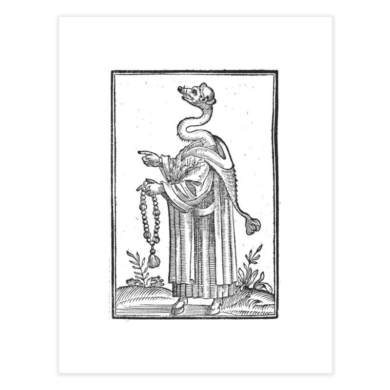 Hermetica Moderna - The Weasel Monk Home Fine Art Print by lostsigil's Artist Shop