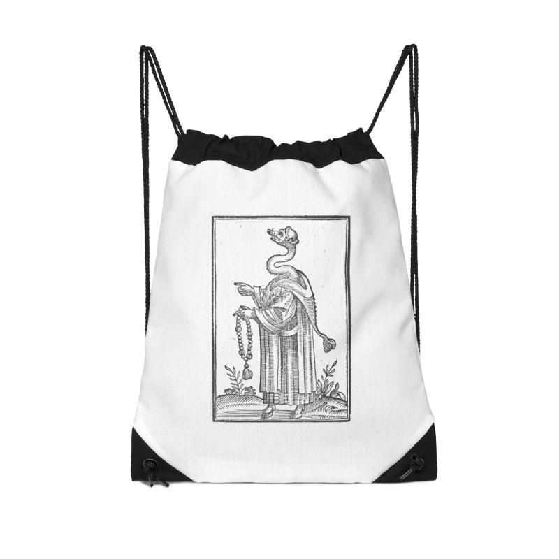 Hermetica Moderna - The Weasel Monk Accessories Drawstring Bag Bag by lostsigil's Artist Shop