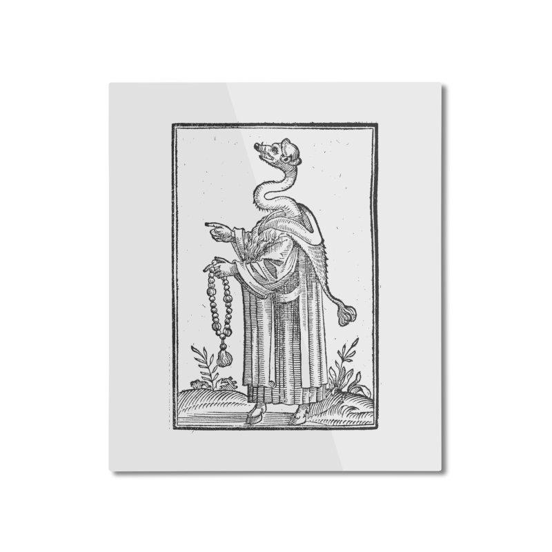 Hermetica Moderna - The Weasel Monk Home Mounted Aluminum Print by lostsigil's Artist Shop