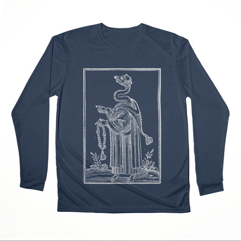 Hermetica Moderna - The Weasel Monk Dark Men's Performance Longsleeve T-Shirt by lostsigil's Artist Shop