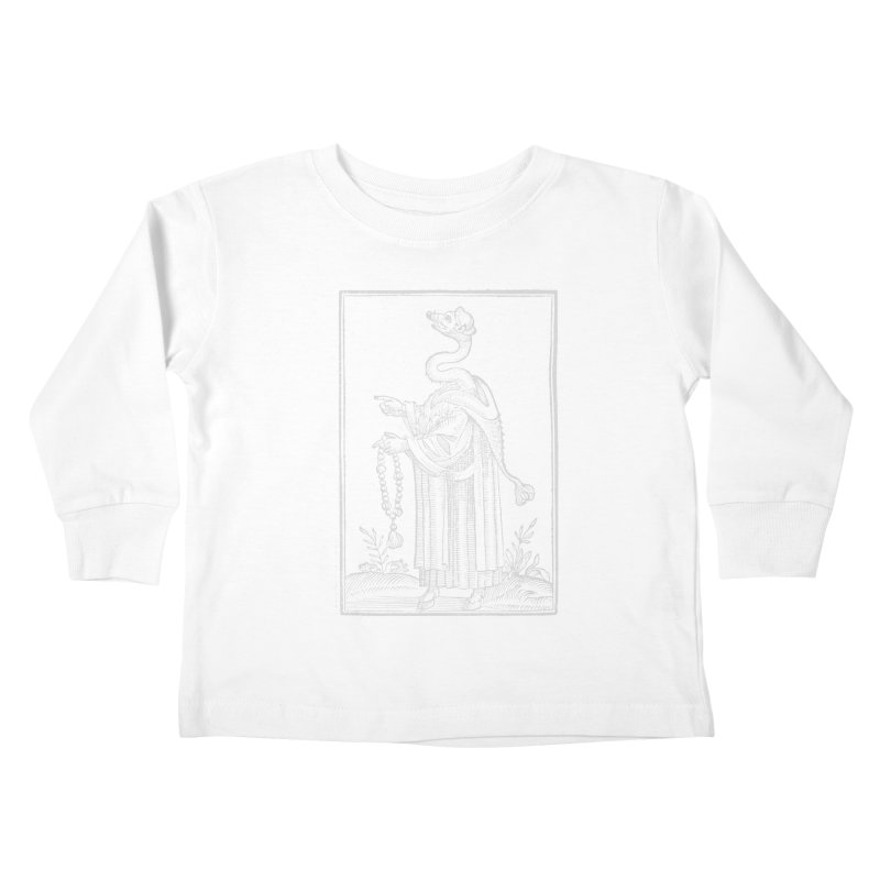 Hermetica Moderna - The Weasel Monk Dark Kids Toddler Longsleeve T-Shirt by lostsigil's Artist Shop