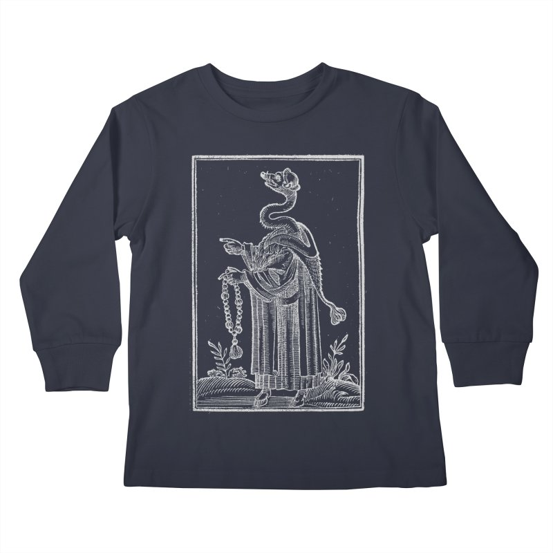Hermetica Moderna - The Weasel Monk Dark Kids Longsleeve T-Shirt by lostsigil's Artist Shop
