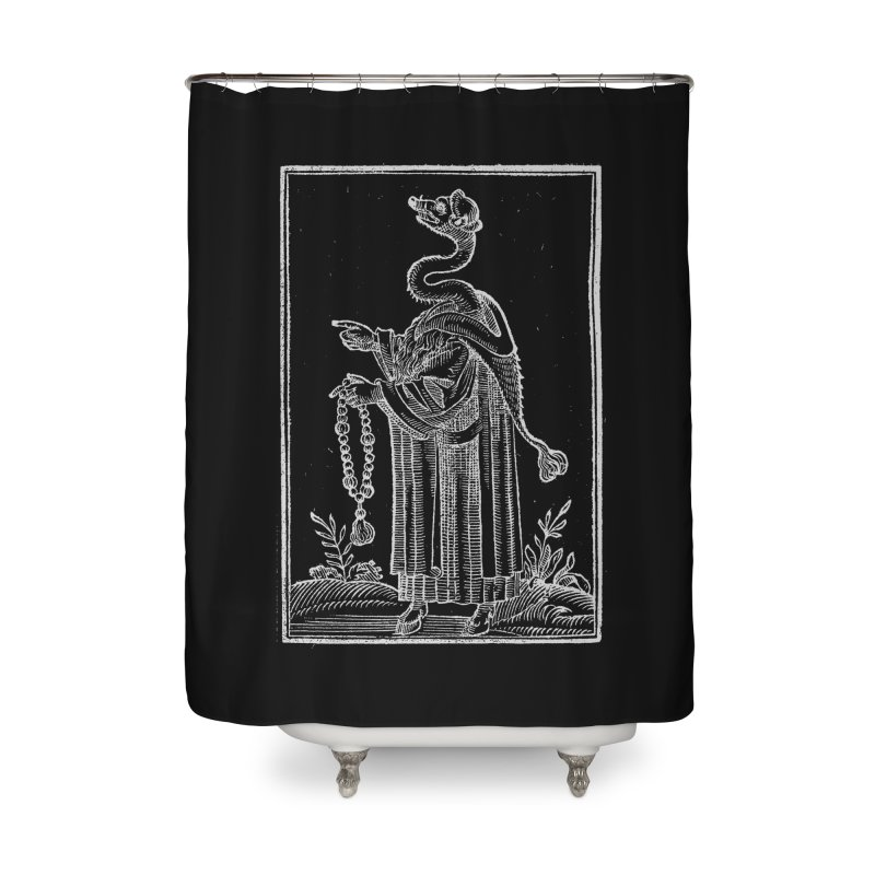 Hermetica Moderna - The Weasel Monk Dark Home Shower Curtain by lostsigil's Artist Shop