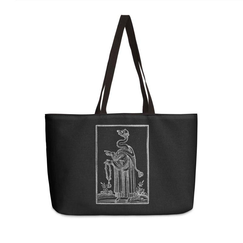 Hermetica Moderna - The Weasel Monk Dark Accessories Weekender Bag Bag by lostsigil's Artist Shop