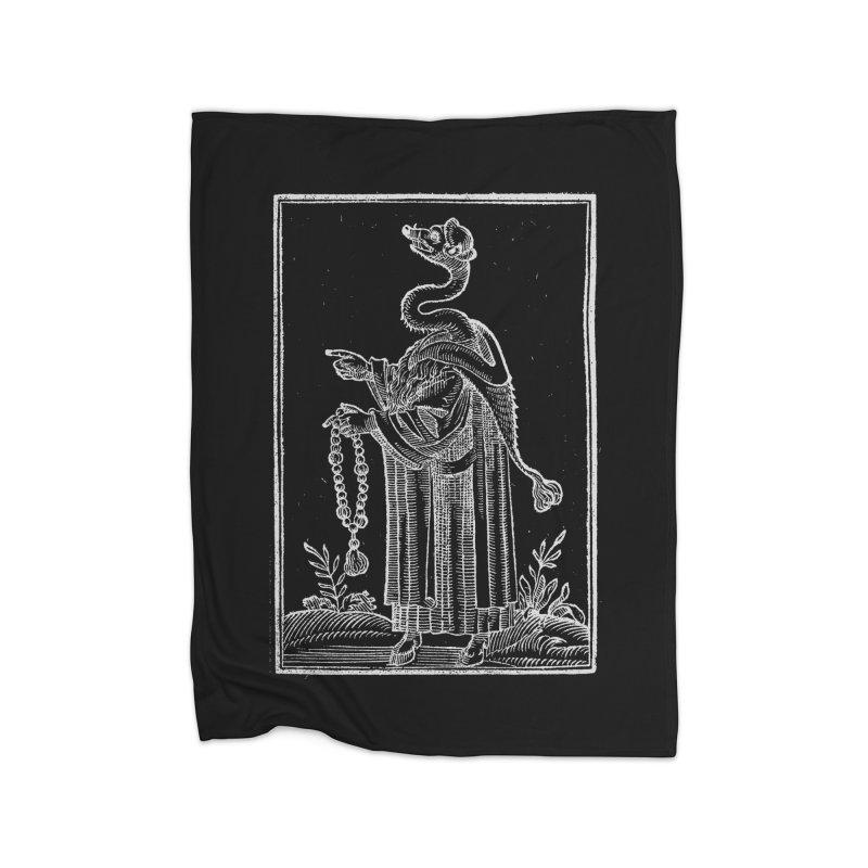 Hermetica Moderna - The Weasel Monk Dark Home Fleece Blanket Blanket by lostsigil's Artist Shop