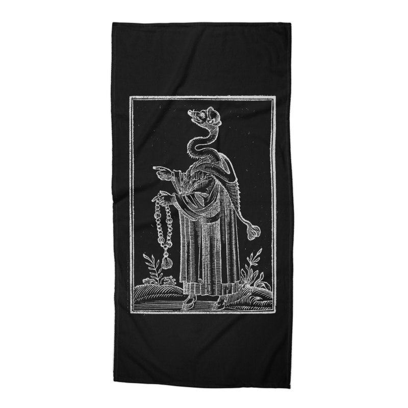 Hermetica Moderna - The Weasel Monk Dark Accessories Beach Towel by lostsigil's Artist Shop