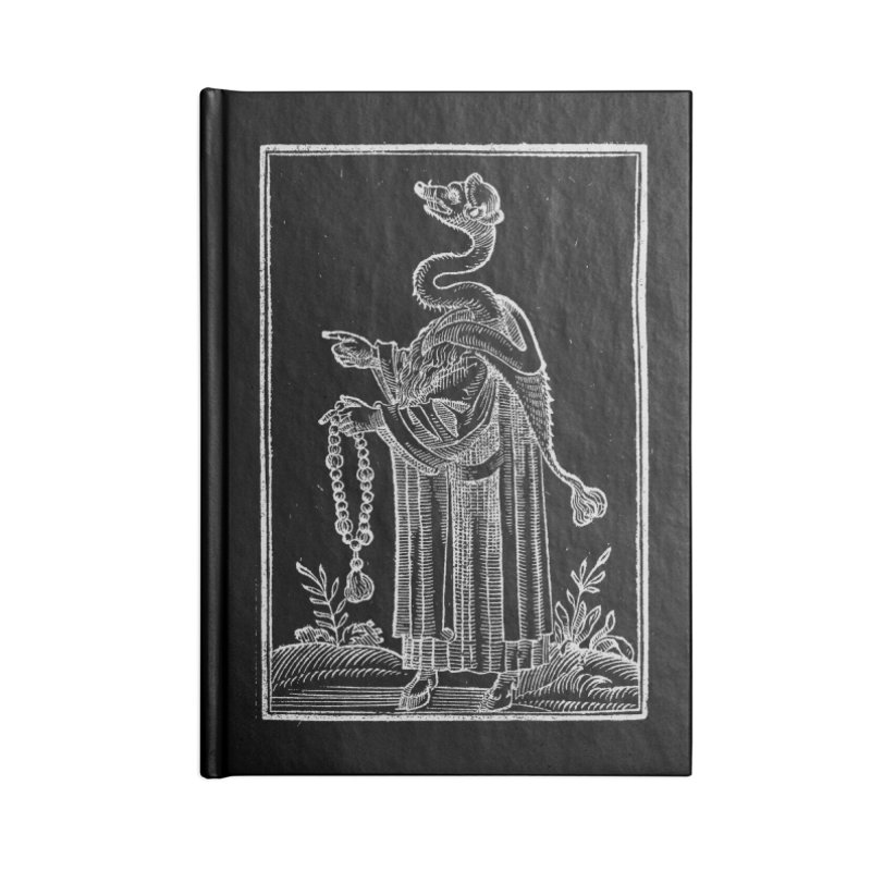 Hermetica Moderna - The Weasel Monk Dark Accessories Lined Journal Notebook by lostsigil's Artist Shop