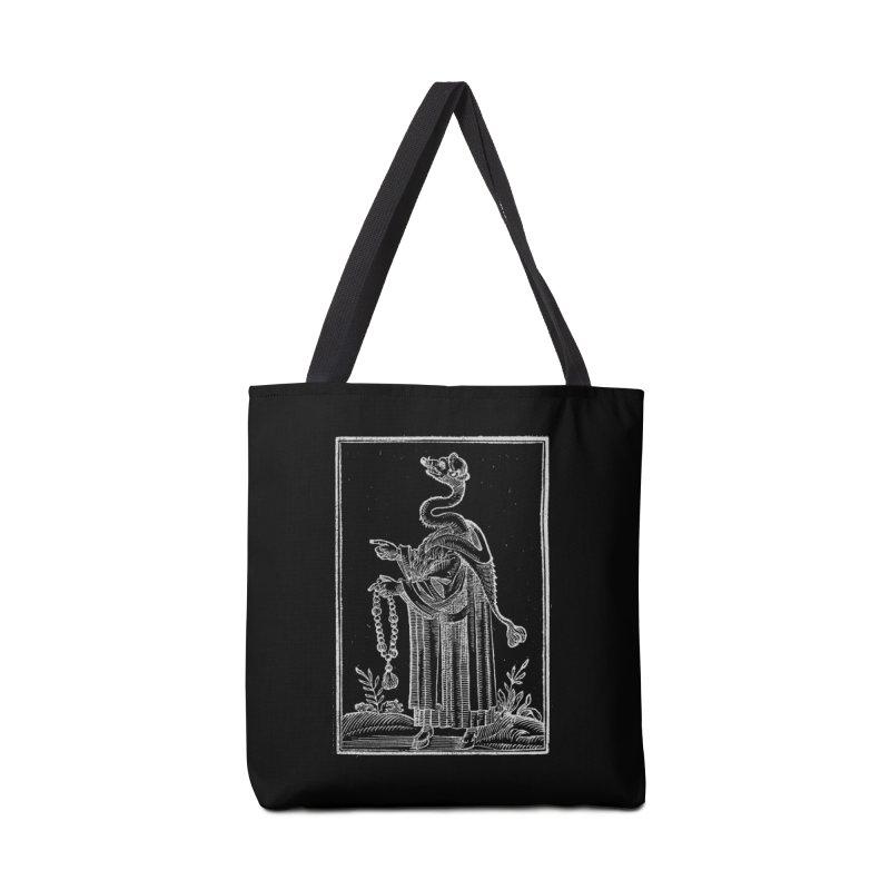 Hermetica Moderna - The Weasel Monk Dark Accessories Tote Bag Bag by lostsigil's Artist Shop