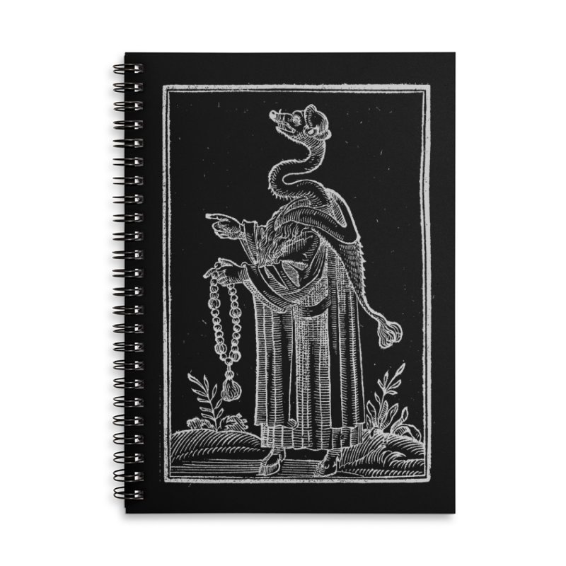 Hermetica Moderna - The Weasel Monk Dark Accessories Lined Spiral Notebook by lostsigil's Artist Shop