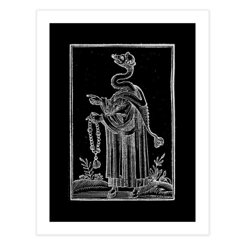 Hermetica Moderna - The Weasel Monk Dark Home Fine Art Print by lostsigil's Artist Shop