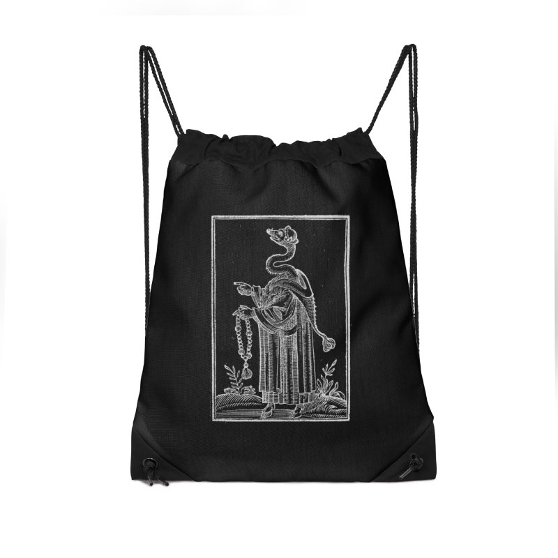 Hermetica Moderna - The Weasel Monk Dark Accessories Drawstring Bag Bag by lostsigil's Artist Shop