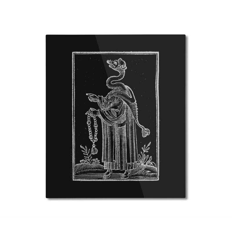 Hermetica Moderna - The Weasel Monk Dark Home Mounted Aluminum Print by lostsigil's Artist Shop