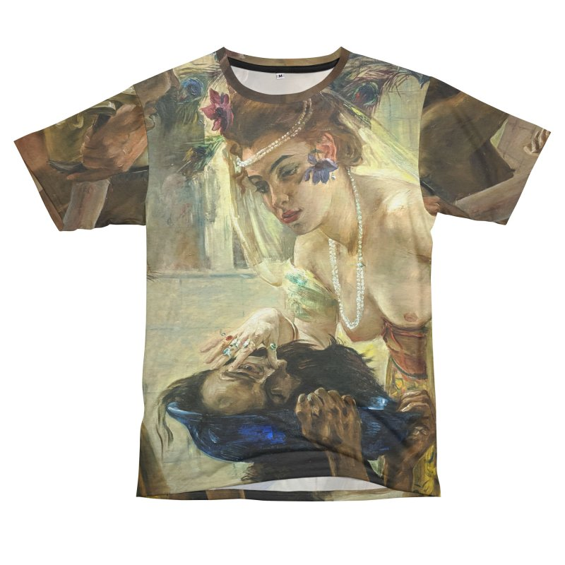 Vivid Retro - The Passion of Salome Men's French Terry T-Shirt Cut & Sew by lostsigil's Artist Shop